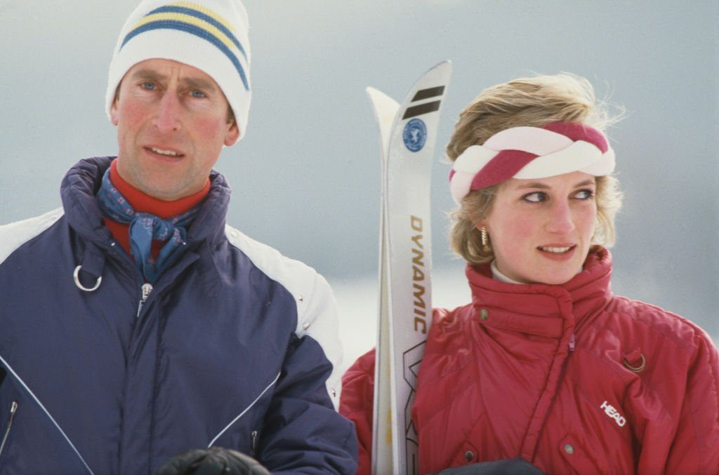 Charles And Diana In Klosters