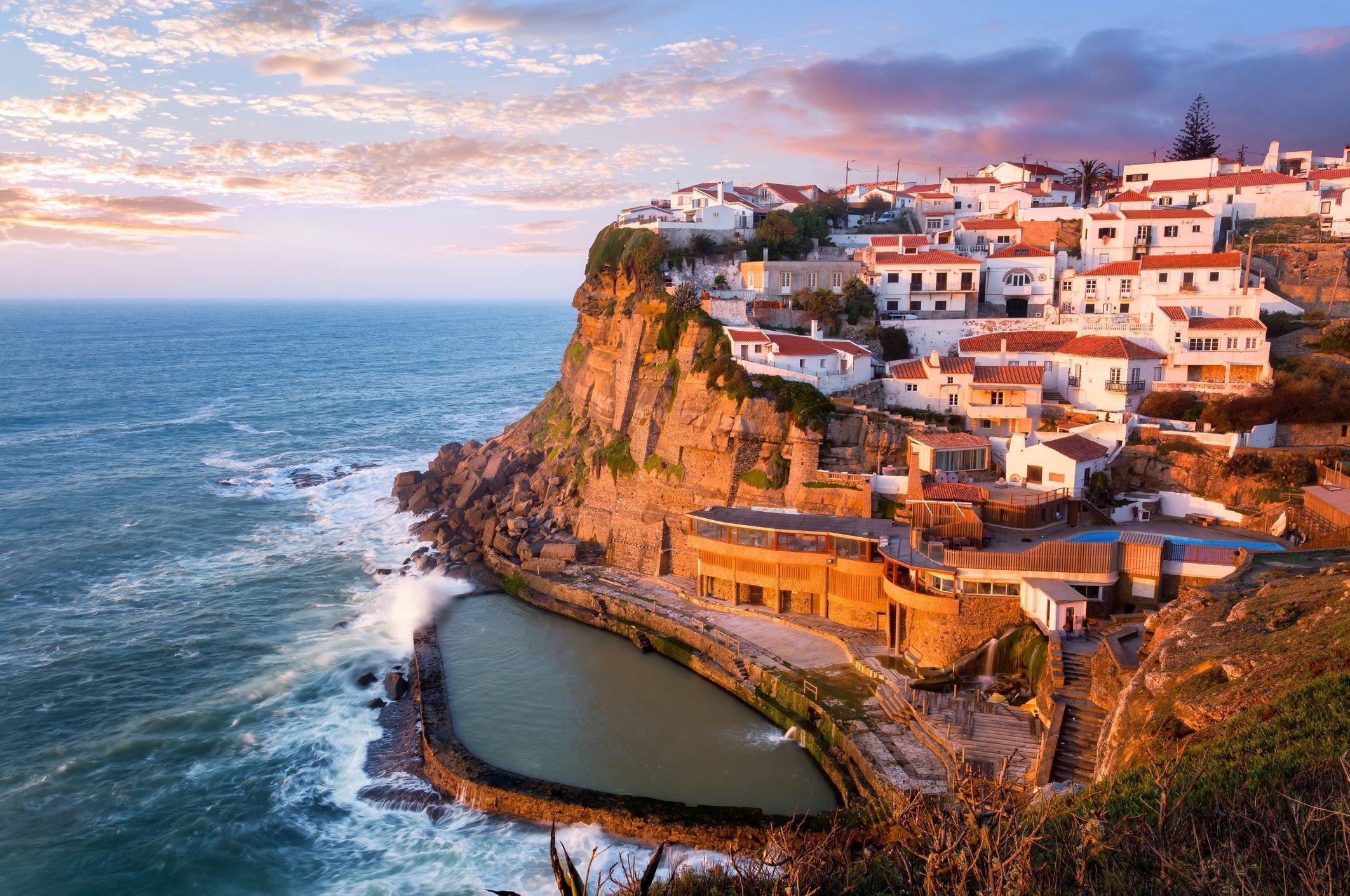 Pool at Azenhas do Mar, Sintra, Portugal