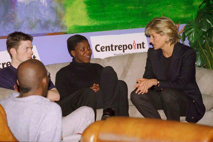 Diana Visits Homeless