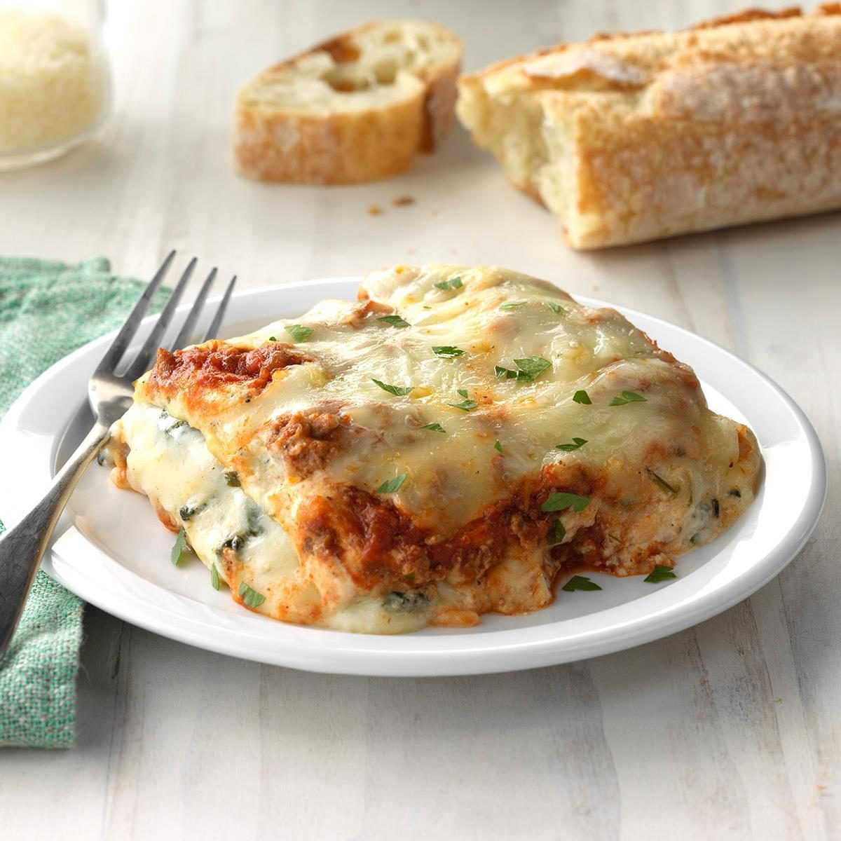 Ground Beef Spinach Alfred Lasagna
