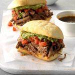 Machaca Beef Dip Sandwiches
