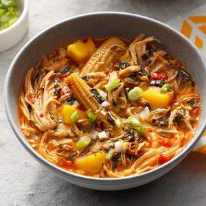 Mango & Coconut Chicken Soup