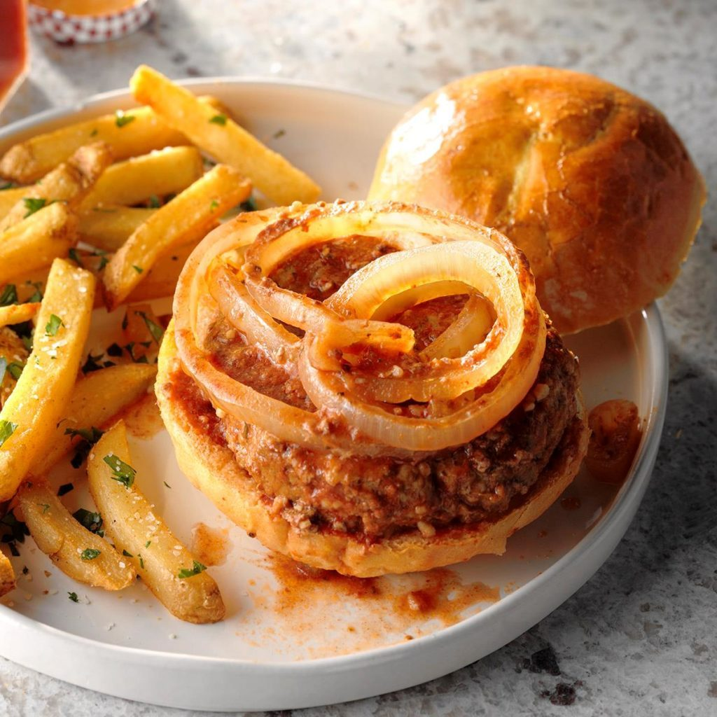 Meat loaf burgers