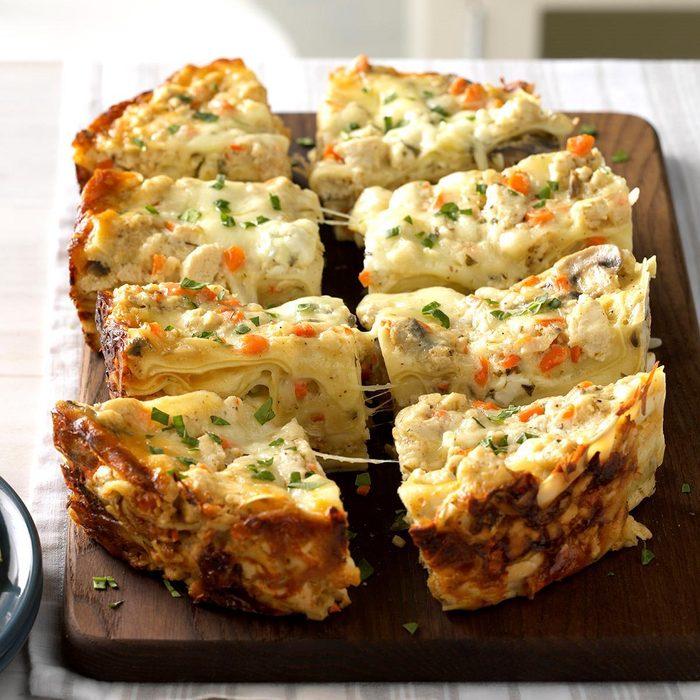 Slow cooker cheesy white lasagna recipe