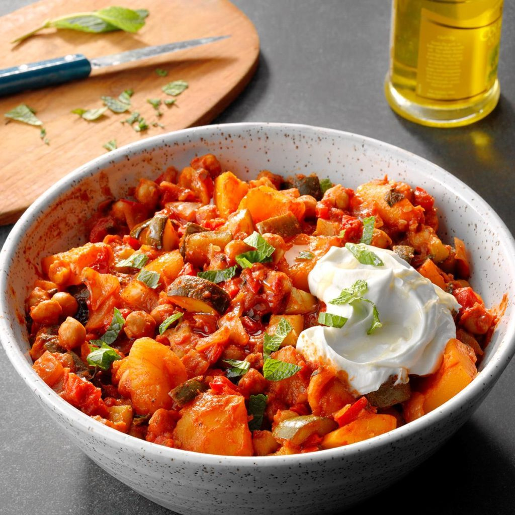 Slow cooker chickpea tagine recipe