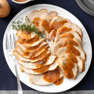 Slow-Cooker Turkey Breast with Cranberry Gravy