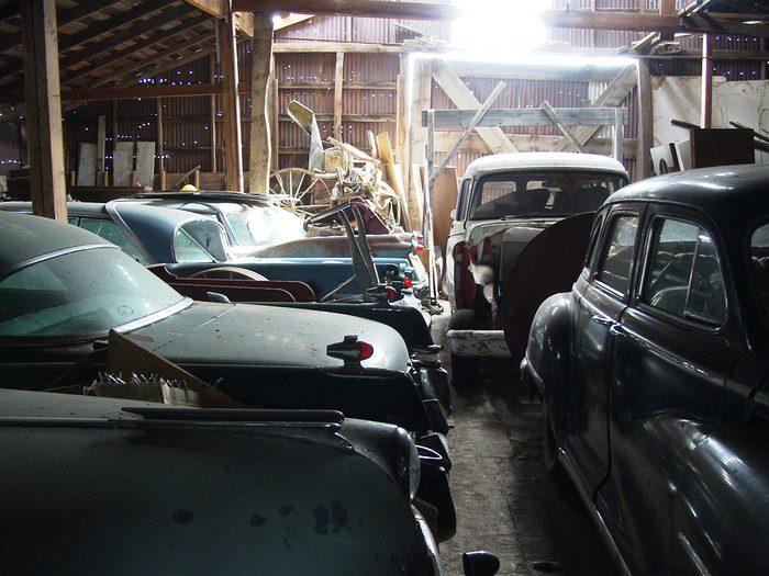Classic cars found in a barn