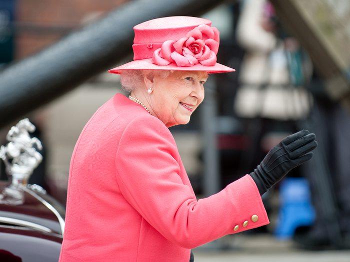 Dinner with the Queen - Queen Elizabeth II in pink
