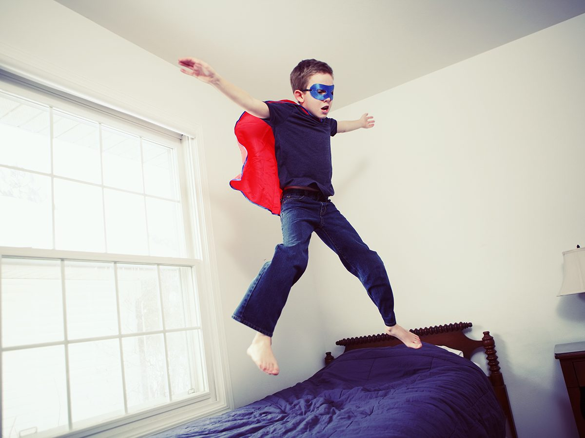 Funny Parenting Tweets - Boy Jumping On Bed
