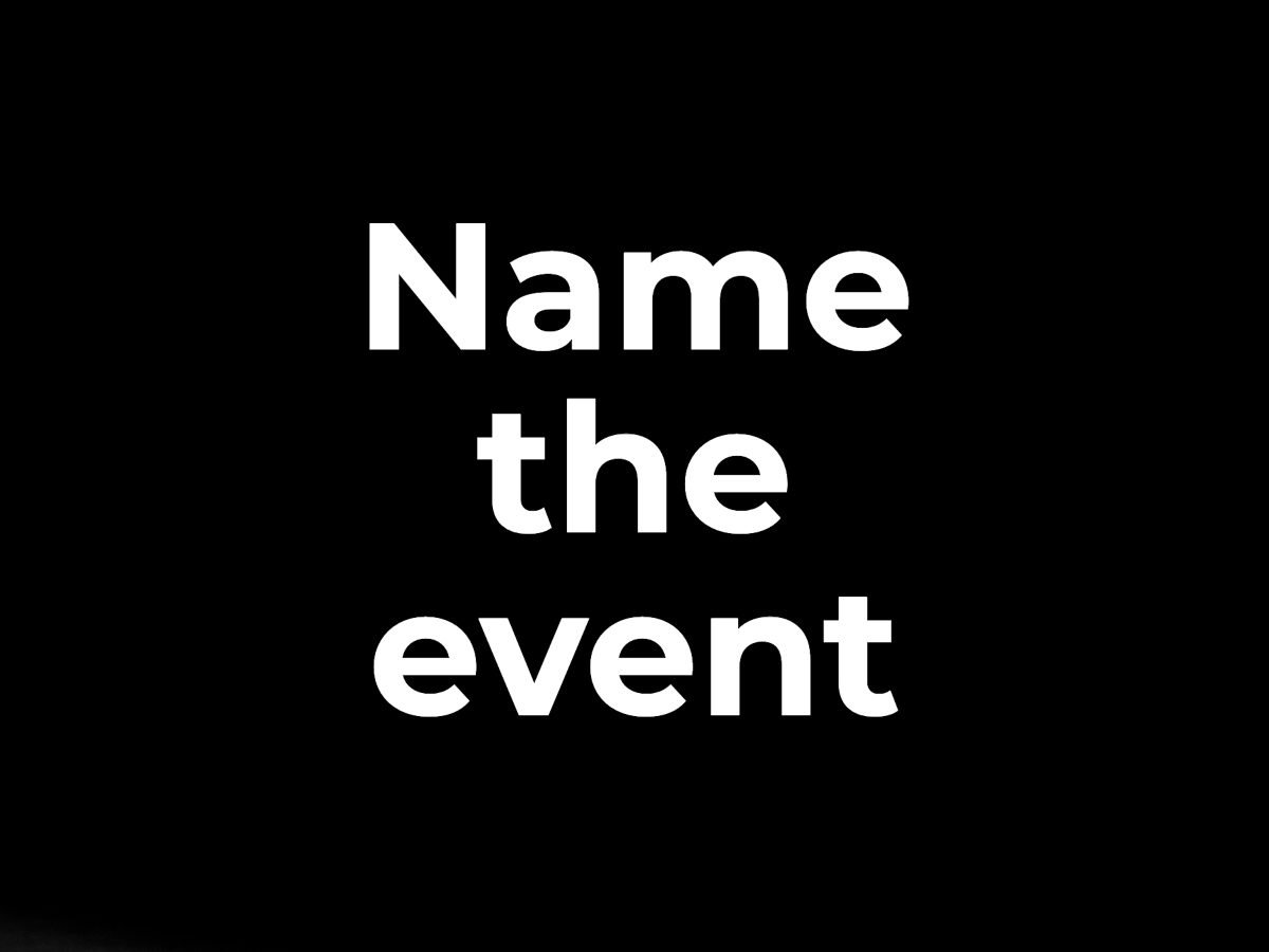 Name the event