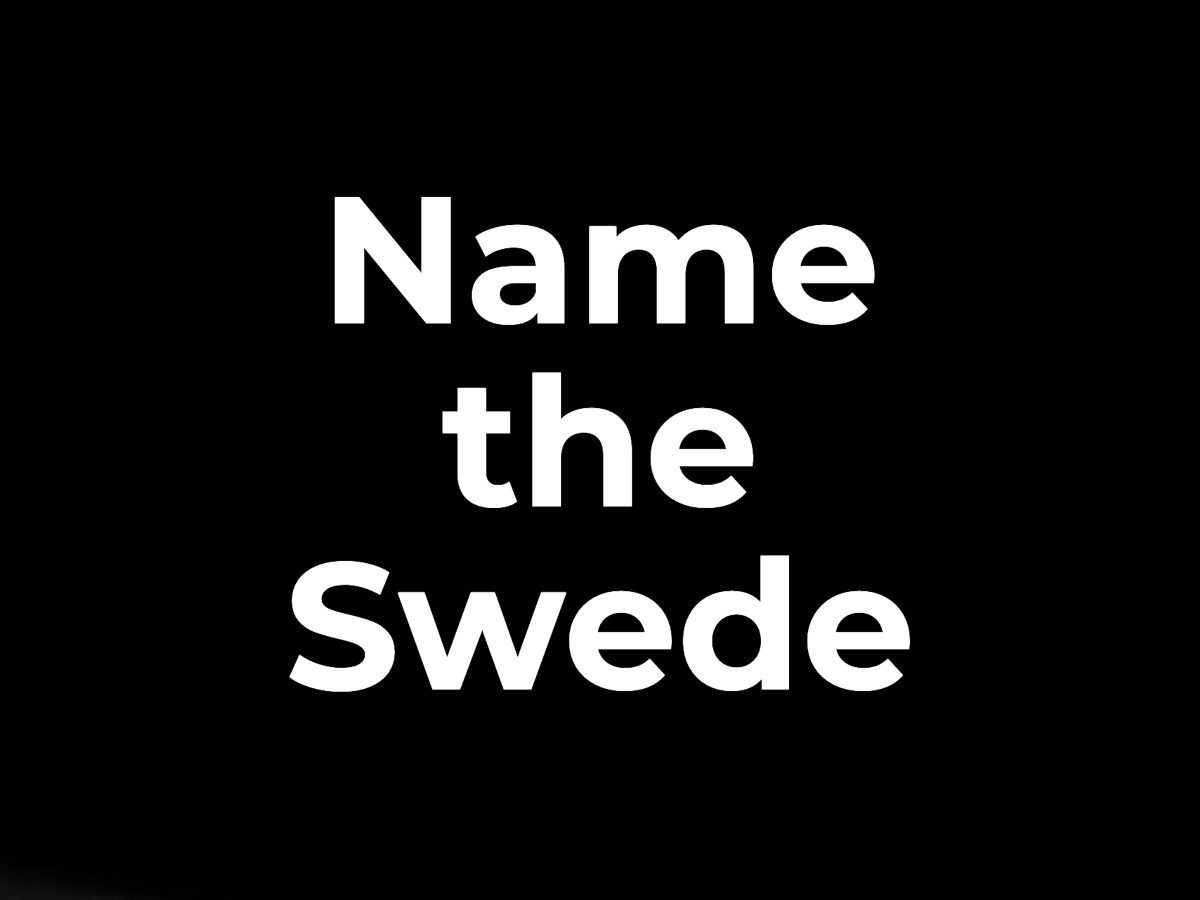 Name the Swede
