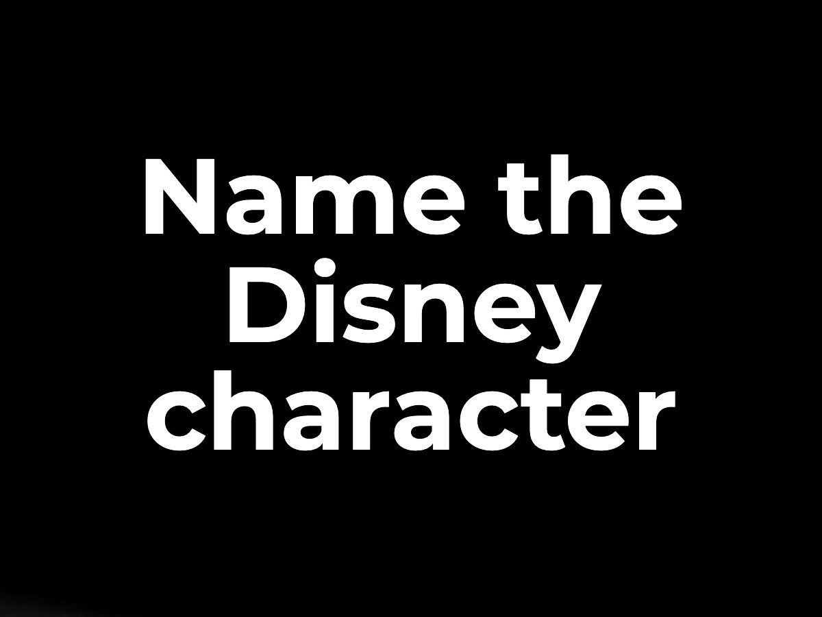 Name the Disney character