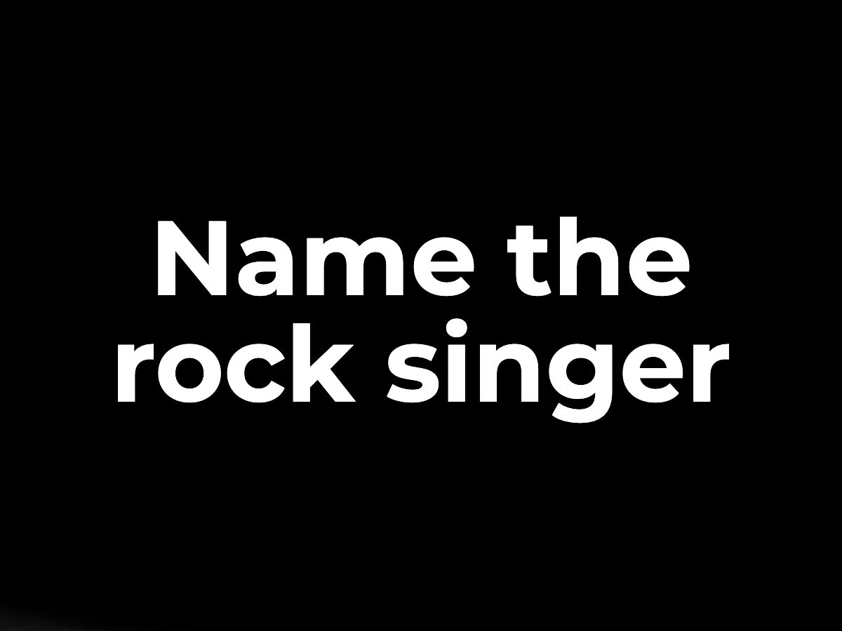 Name the rock singer
