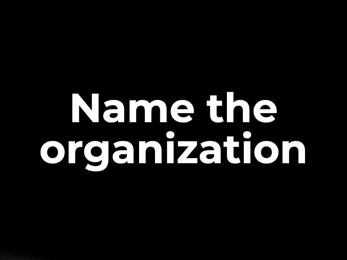 Name the organization