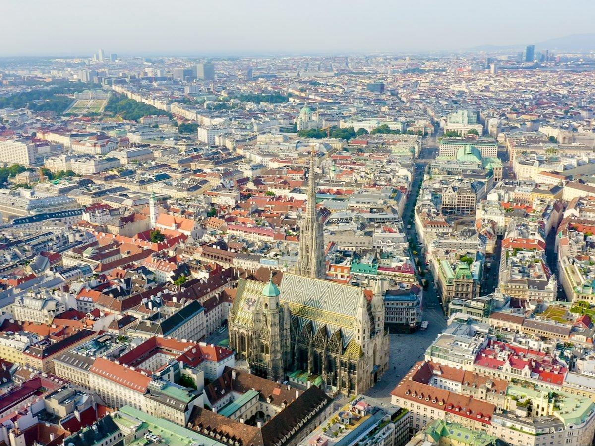 Bird's eye view of Vienna