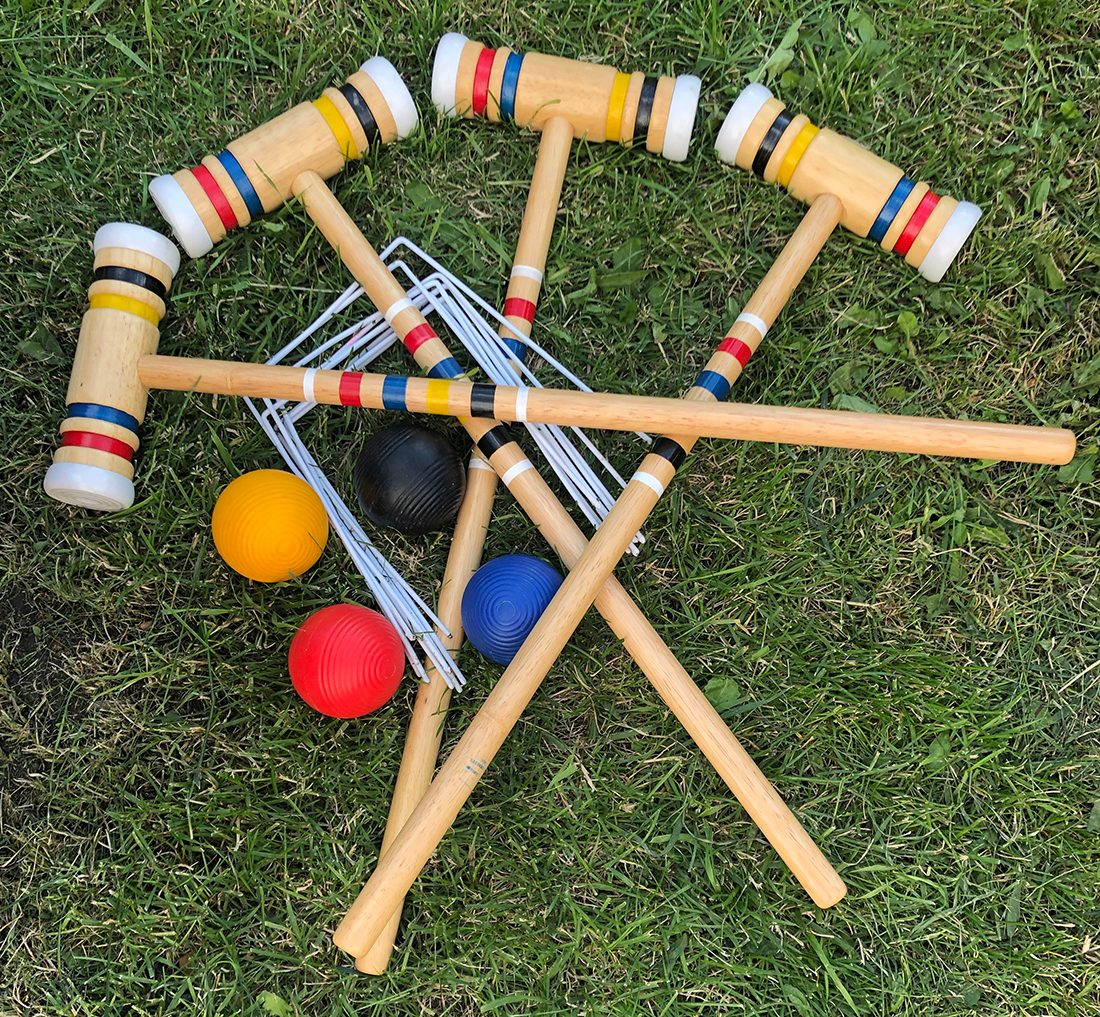 In the backyard photography - croquet set