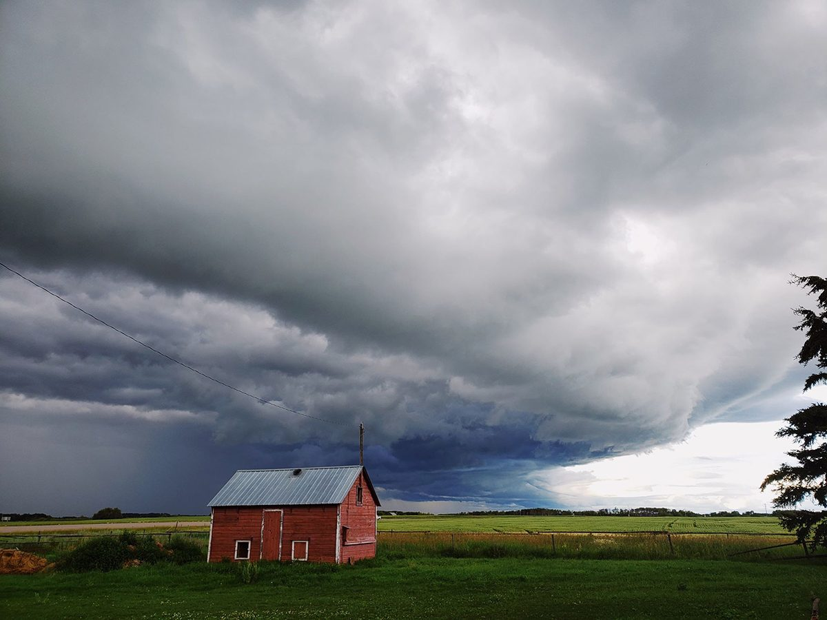 In the backyard photography - storm on the farm