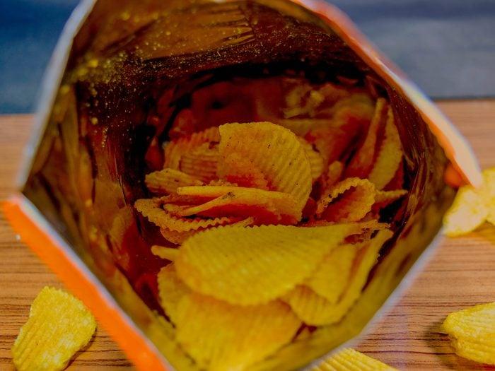 bad eating habits - Potato chip snack