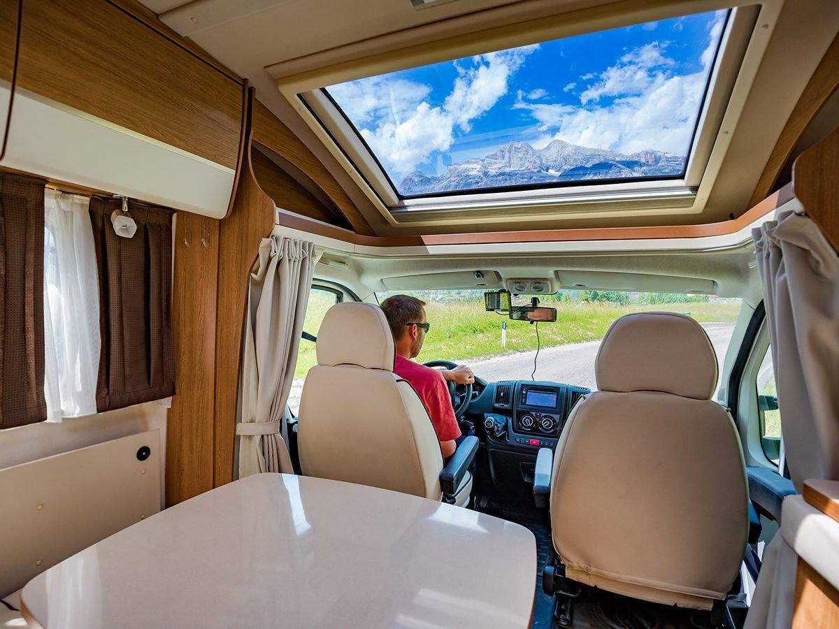 RV trip planner - driving an RV motorhome