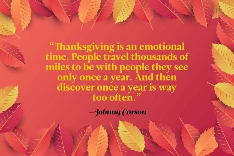 Funny Thanksgiving quotes - Johnny Carson