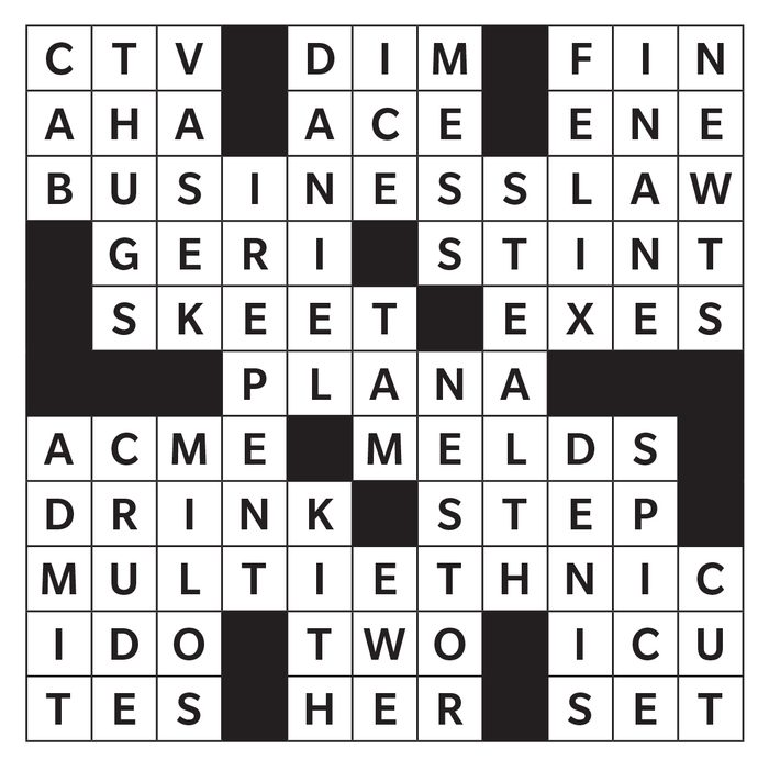Printable crossword answer - October 2020
