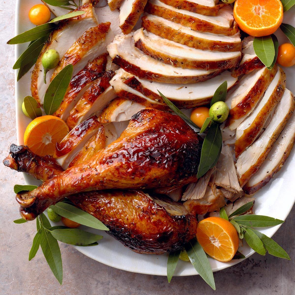 Herb glazed turkey