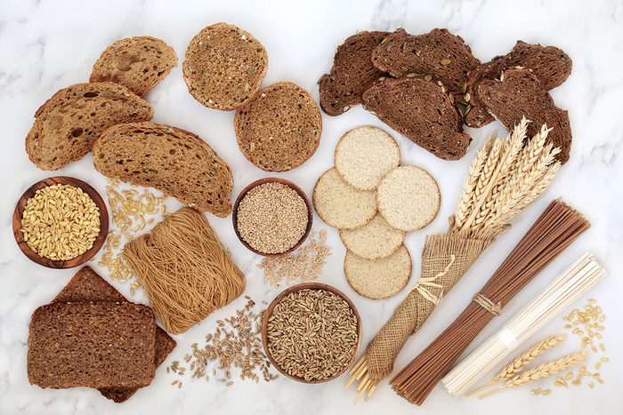 Assorted carbs - Breads, pasta and cereals