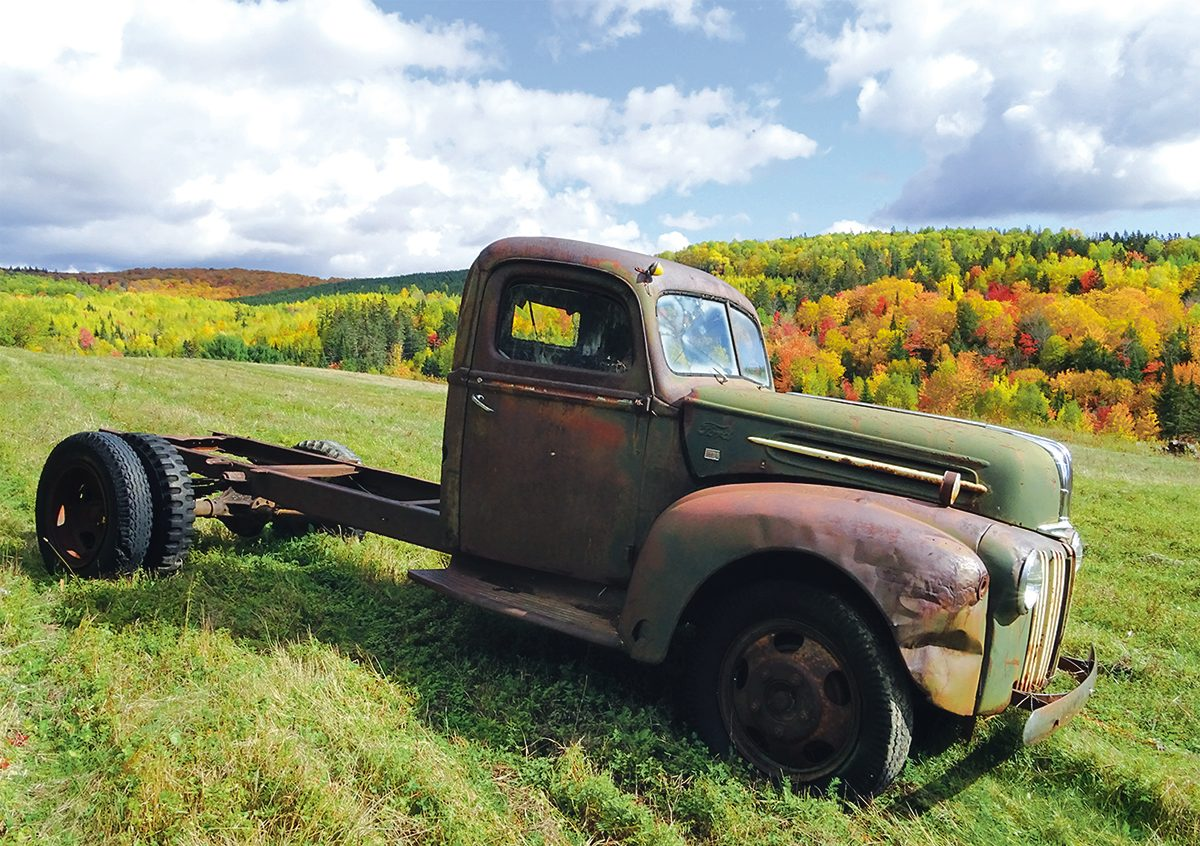 Autumn in Canada - rusty vintage truck
