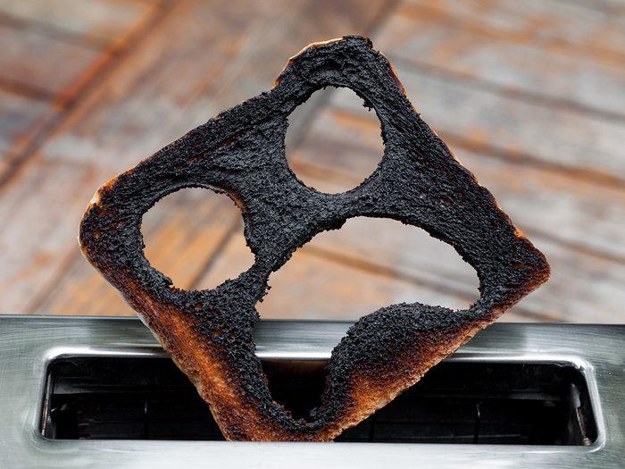 Burnt toast scared face