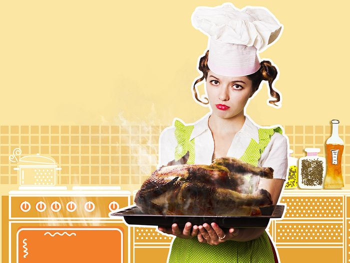 Butterball help line calls - woman with burnt turkey