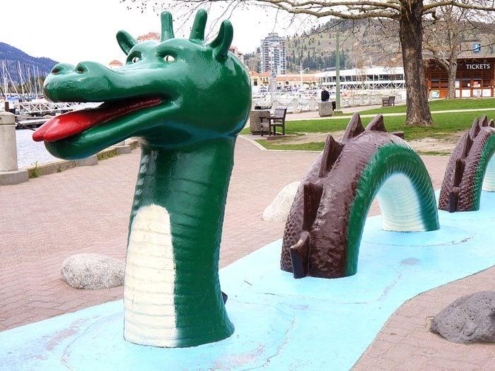 Canadian legends - Ogopogo Sea serpent statue