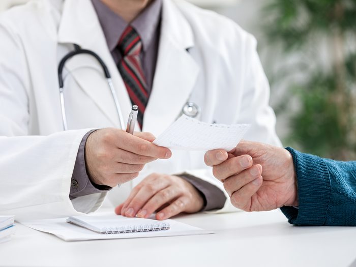 Everyday aches and pains - doctor writing prescription