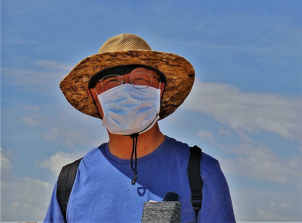 Face mask selfies from across Canada - man in hat