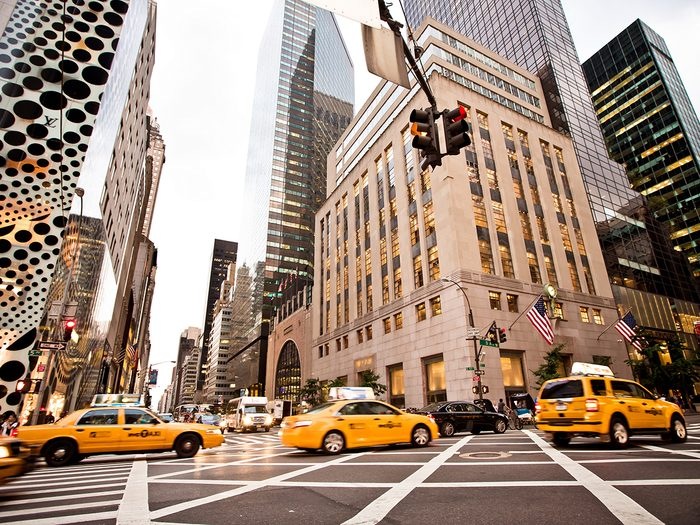 Famous streets - Fifth Avenue in NYC