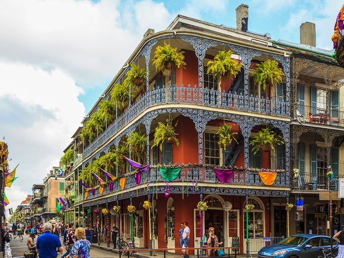 Famous streets - Bourbon Street in New Orleans