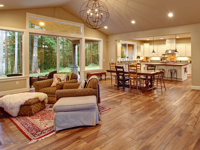 Home with wood floors - never clean with baking soda