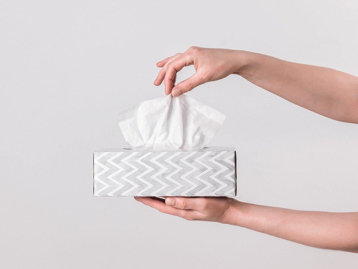 Glasses fogging up - paper tissue solution