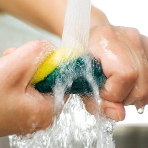 Kitchen sponge uses - kitchen sponge under tap