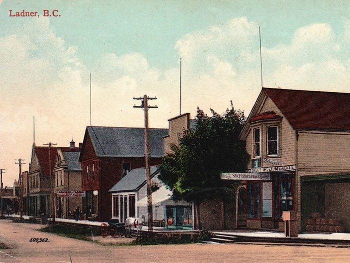 Ladner BC - vintage postcard
