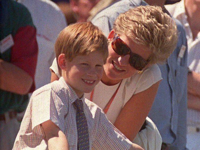 Princess Harry with Princess Diana