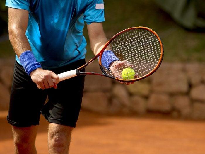 Printable crossword puzzles - man playing tennis