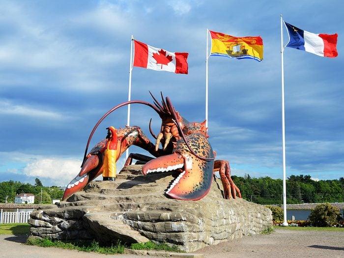 Roadside attractions Canada - Giant Lobster in Shediac New Brunswick