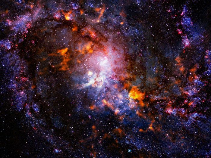 Science facts - Beautiful cosmos. Science fiction. Elements of this image furnished by NASA.