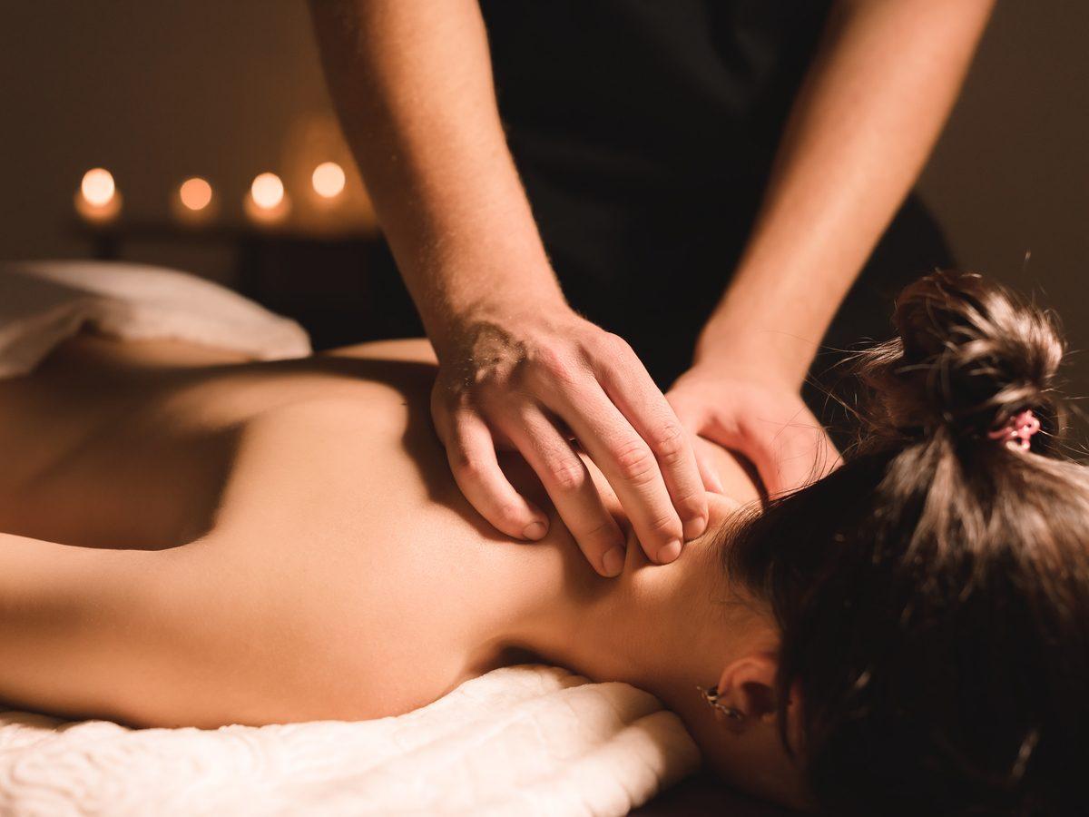 pain management person getting massage
