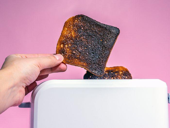 Toaster mistakes - burnt toast