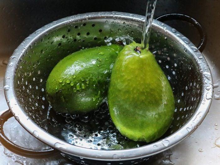 Do you need to wash avocados - avocados in a bowl
