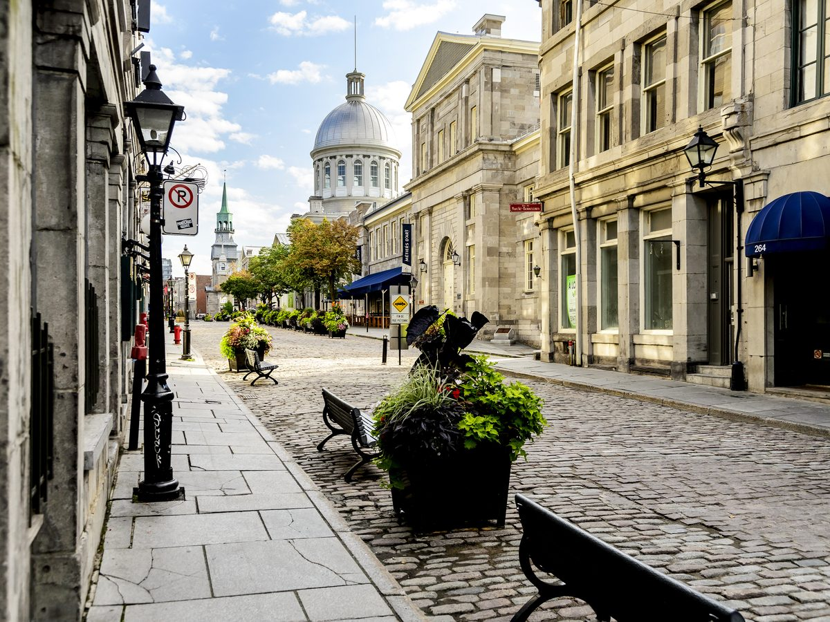 Old Town area of Montreal