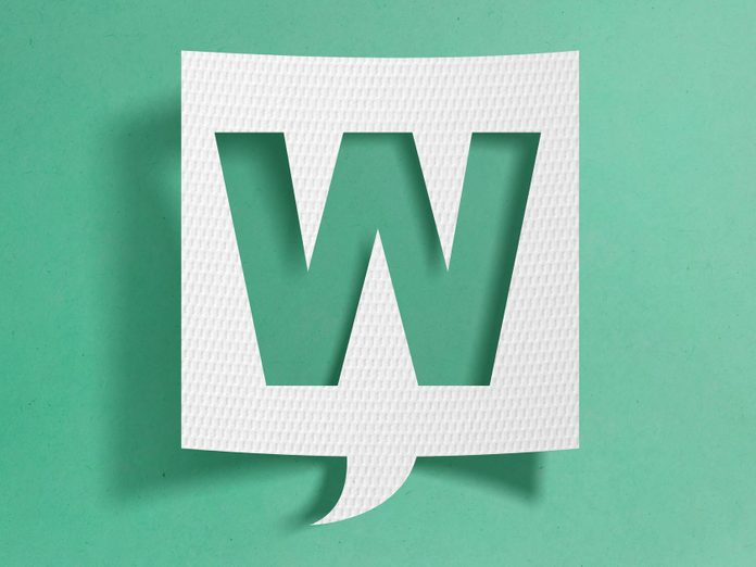 Why W is pronounced double U - Speech bubble with letter W