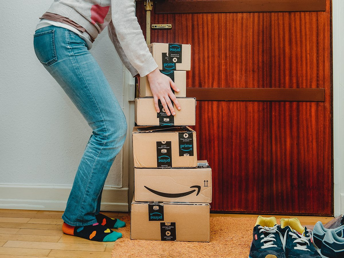 Amazon Prime Day 2020 in Canada Best Deals - Woman with Amazon packages