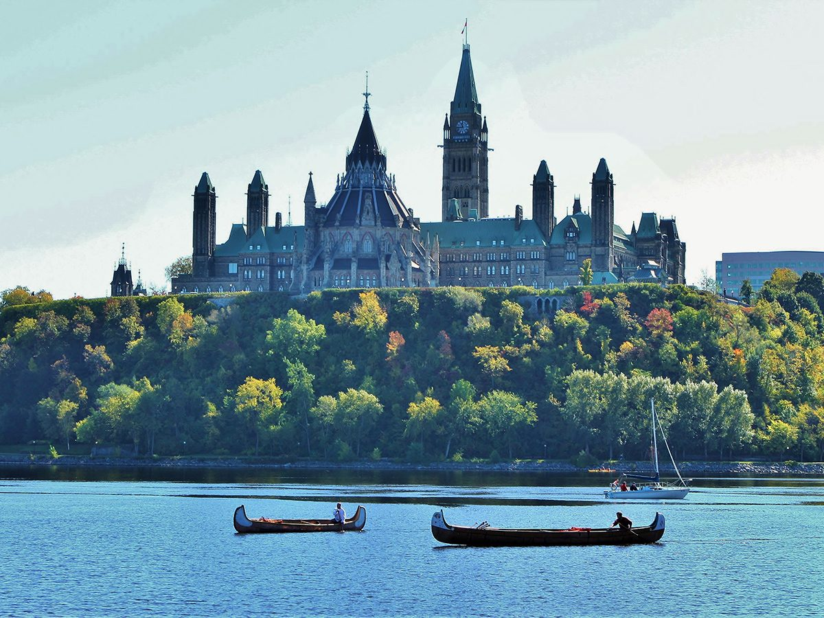 Best boat photography across Canada - Canoes on the Ottawa River
